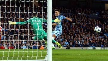 Гол Агуэро в матче с «Монако» стал для «Манчестер Сити» 200-м в истории участия в еврокубках