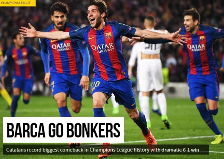 «Барса» сошла с ума». Реакция мира на невероятный камбэк «Барселоны»
