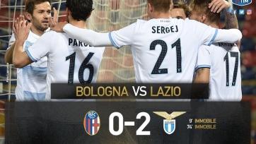 Дубль Иммобиле принёс «Лацио» гостевую победу над «Болоньей»