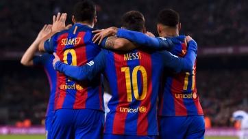 «Барселона» сделала почти в пять раз больше передач в первом тайме, нежели ПСЖ