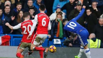Гол Азара в ворота «Арсенала» - лучший гол февраля в АПЛ (видео)