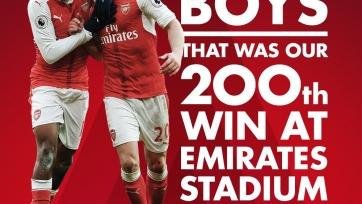 Победа над «Линкольном» стала для «Арсенала» 200-й на стадионе «Эмирейтс»