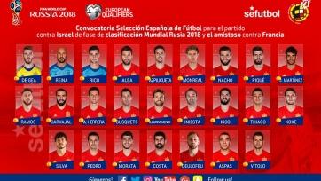 Лопетеги определился с заявкой сборной Испании на ближайшие матчи