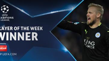 Шмейхель – игрок недели в Лиге чемпионов