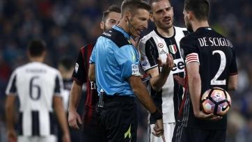 Судейский комитет признал ошибочным пенальти в матче «Ювентус» – «Милан» и объявил наказание для арбитров