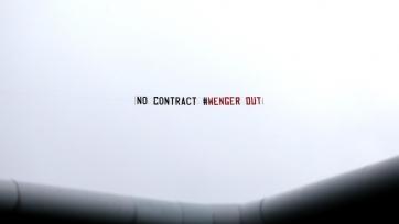 Болельщики «Арсенала» посвятили Венгеру два «воздушных мессаджа»
