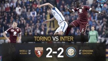 Боевая ничья в матче между «Торино» и «Интером»