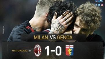 «Милан» с минимальным счётом обыграл «Дженоа»