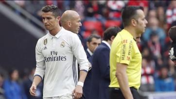 Роналду остался недоволен тем, что Зидан заменил его в матче с «Атлетиком»