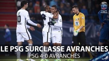 ПСЖ вышел в полуфинал Кубка Франции, забив четыре гола «Авраншу»
