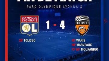 «Лорьян» сенсационно разгромил «Лион», крупные победы «Бордо» и «Нанси», и другие результаты 32-го тура Лиги 1