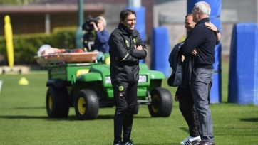 Клаудио Раньери посетил тренировку «Челси»
