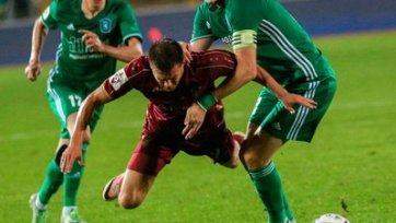 «Томь» и «Рубин» разошлись миром, забив по два мяча