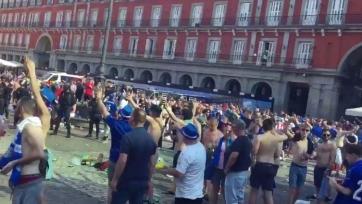 Скандируя «Испанские ублюдки, Гибралтар наш!», фанаты «Лестера» разгромили центр Мадрида (видео)