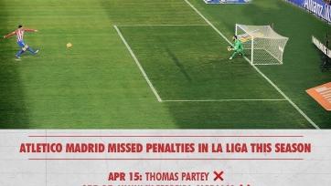 Мадридский «Атлетико» во второй раз в сезоне не забил два пенальти в одной игре