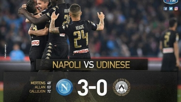«Наполи» забил три мяча «Удинезе»