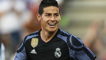 Компания Adidas хочет, чтобы Хамес Родригес выступал в «МЮ» под десятым номером