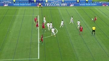 После просмотра видеоповтора гол сборной Португалии был отменён