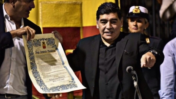 Марадона стал почётным гражданином Неаполя