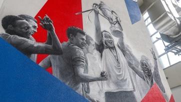 Изображение Слуцкого появилось на верхнем ярусе трибуны «K» стадиона ЦСКА