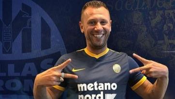 Официально: «Верона» разорвала контракт с Кассано, игрок завершил карьеру