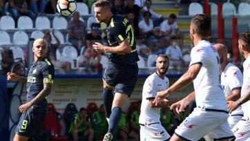 «Интер» добыл очередную победу в Серии А, дважды забив в концовке «Кротоне»