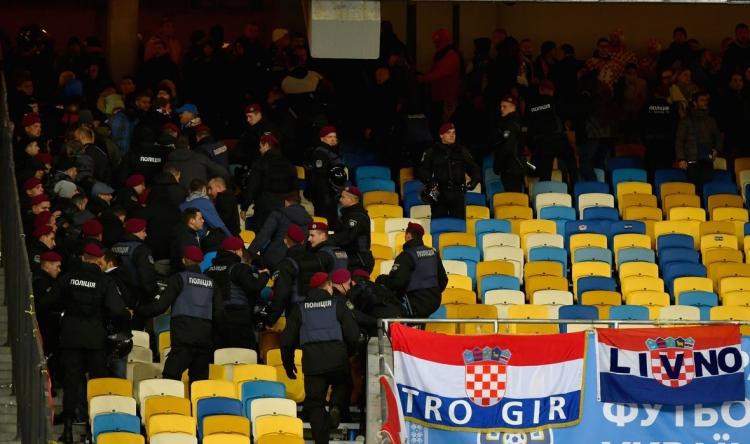 Хорватские фанаты подрались с украинской полицией (фото)