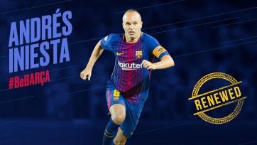 Официально: Иньеста подписал пожизненный контракт с «Барселоной»