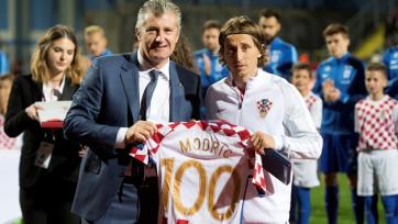 Модрич достиг отметки в сто поединков за сборную Хорватии