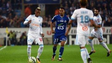 «Марсель» и «Страсбург» забили шесть голов на двоих
