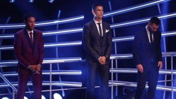 Стали известны результаты голосования за лучшего игрока 2017 года по версии ФИФА