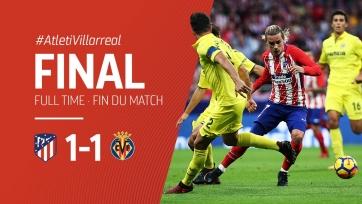 «Вильярреал» притормозил «Атлетико» в Мадриде