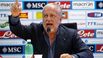 Президент «Наполи», намекая на «Милан»: «Есть клубы, потратившие в три раза больше, и они проигрывают со счётом 0:2»
