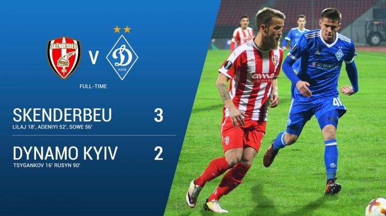 Киевское «Динамо» проиграло в Албании