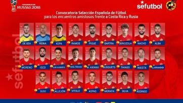 Испанцы определились с заявкой на игру с Россией