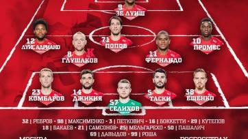 «Спартак» - «Уфа», прямая онлайн-трансляция. Стартовые составы команд