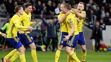 Игроки сборной Швеции побрили налысо Андреаса Гранквиста (фото)