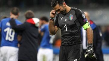 Буффон: «Мне стыдно, что моя последняя официальная игра совпала с непопаданием на Чемпионат мира»