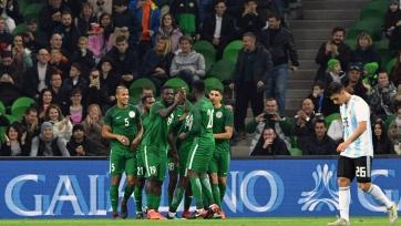 Аргентина проиграла сборной Нигерии, выигрывая по ходу матча со счётом 2:0