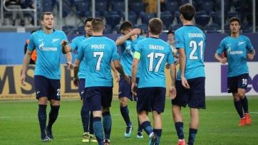 «Зенит» обыграл «Вардар», Дзюба не забил пенальти