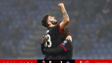 «Милан» крупно победил «Аустрию», несмотря на комичную ошибку Бонуччи
