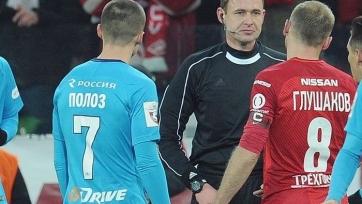 Мешков оценил свою работу в матче между «Спартаком» и «Зенитом»