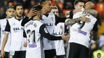 «Валенсия» крупно победила «Сарагосу» и прошла в 1/8 финала Кубка Короля