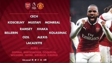 «Арсенал» - «МЮ». Стартовые составы команд