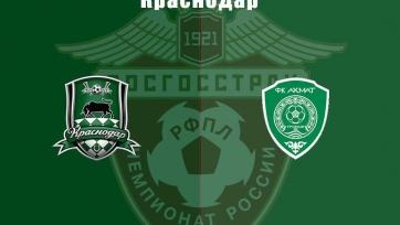 «Краснодар» - «Ахмат». Стартовые составы команд