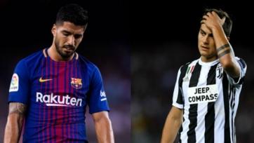 Дибала и Суарес – худшие нападающие в нынешней Лиге чемпионов