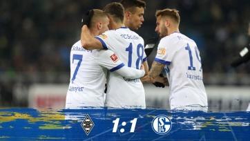 «Боруссия» и «Шальке» в Мёнхенгладбахе не выявили сильнейшего, Коноплянка сыграл семь минут