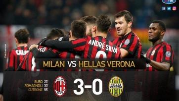 «Милан» обыграл «Верону» и встретится с «Интером» в 1/4 финала Кубка Италии