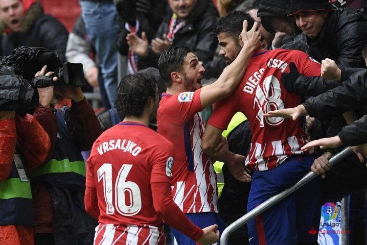 Атлетико выиграл у Хетафе, Коста забил и был удален