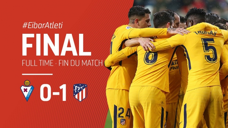 «Атлетико» минимально переиграл «Эйбар»